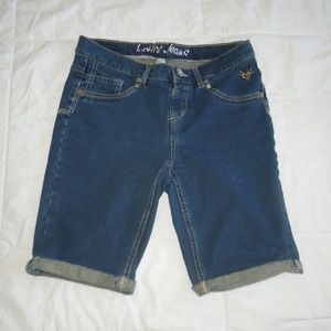 Girls size 14 Justice stretch jean shorts